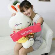 Thỏ bông Love áo vàng cam (60cm)