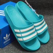 Dép Adidas Duramo chính hãng xanh ngọc trắng
