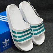 Dép Adidas Duramo chính hãng trắng xanh ngọc