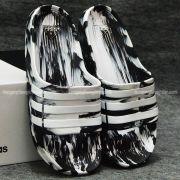 Dép Adidas Duramo Camo chính hãng trắng đen trắng
