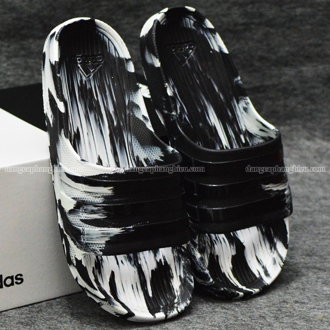 Dép Adidas Duramo Camo chính hãng đen trắng
