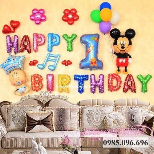 Bộ bóng sinh nhật Mickey số 01