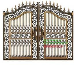 Tuyển chọn các mẫu cổng nhôm đúc đẹp nhất năm 2018