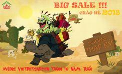 Tưng Bừng Chào Hạ Cùng Chương Trình Big Sale Giảm Giá Shock Mừng Kỷ Niệm 10 Năm Thành Lập Vietpetgarden!!!