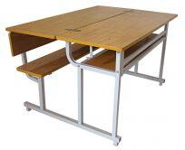 Bàn học sinh bán trú liền ghế có tựa cao 650 - G5SF3T