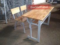 Bàn ghế học sinh mặt gỗ tự nhiên