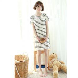 Đầm Váy Bầu Kết Hợp Cho Con Bú Cao Cấp NX142