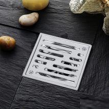 Phễu Thoát Sàn Chống Mùi Ban Công Inox304 123mm NX562-2U