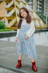 Bộ Váy 2 Dây Tăng Giảm Hoa Xanh NX0225