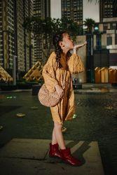 Váy Hoa Vàng Tay Bồng NX0321