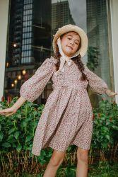 Váy Bèo Ngực Hoa Nâu NX0218