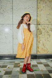 Váy 2 Dây Họa Tiết Mèo Vàng NX0239