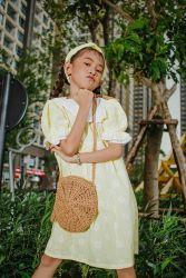Váy Pha Cổ Thủy Thủ Hoa Vàng NX0236
