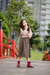 Bộ Váy Yếm Tăng Giảm Kèm Áo Sơ Mi NX0139