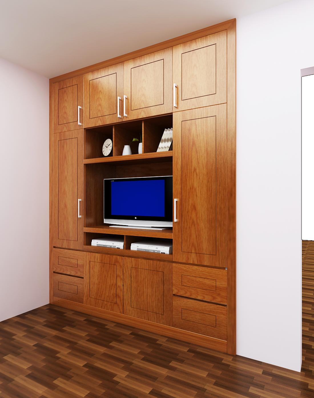 Tủ áo + Kệ tivi