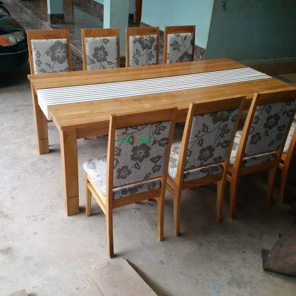 Bộ bàn ghế đệm Gỗ Sồi