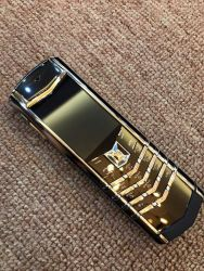 Vertu Signature Stainless Steel Ceramic With Yellow Gold