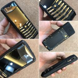 Vertu Ascent X Titan Black Knurl Red Gold Mixed Metals