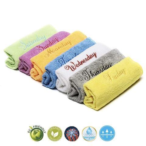 khăn mặt nhiều mầu theo ngày