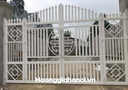 Mẫu cổng sắt bốn cánh