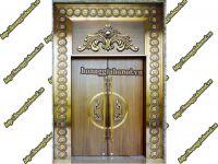 Mẫu cửa đồng vàng giả cổ