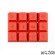 Keycap Zodiac PBT xuyên led đỏ