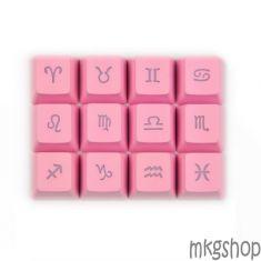 Keycap Zodiac PBT xuyên led hồng