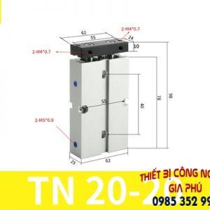 xilanh TN20x20S