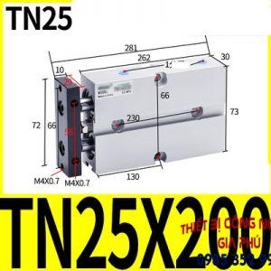 xilanh TN25x200S