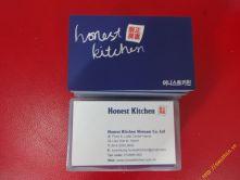 Card visit Nhà hàng Honest Kitchen