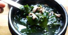 Canh thịt bò rong biển