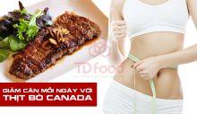 Giảm cân mỗi ngày với thịt bò Canada