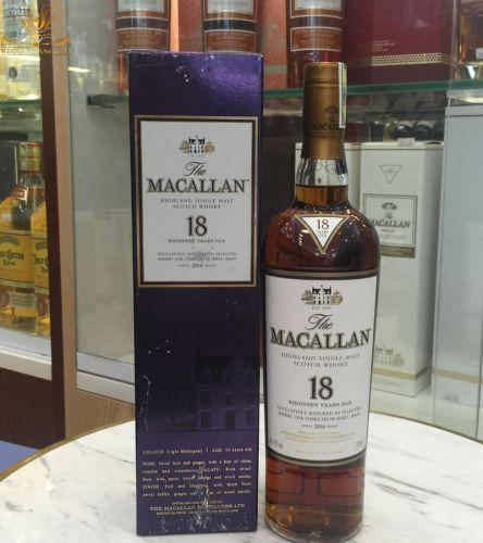 Rượu Macallan 18 đậm