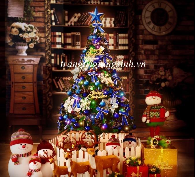 Set Cây Thông Noel Kèm Phụ Kiện (Màu Xanh) 1.5m