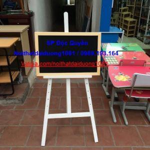 Bảng vẽ màu đen + giá vẽ nhỡ sơn trắng BV40x60Đ/GV02T