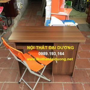 Bàn làm việc + Ghế gấp HP - Bàn BLV10Min+Ghế 3 mảnh màu Cam
