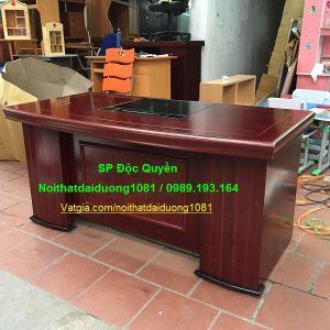 Bàn làm việc gỗ MDF sơn PU cao cấp BLV1680New