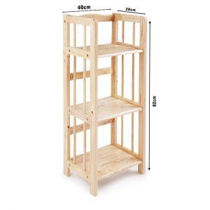 Kệ sách đa năng KS3T40, gỗ cao su tự nhiên 3T rộng 40cm