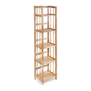 Kệ sách đa năng KS5T40, kệ gỗ cao su tự nhiên 5T rộng 40cm