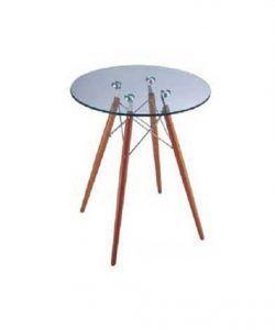 bàn cafe chân đan mặt kính