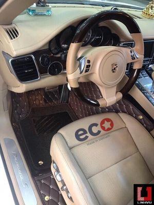 Thảm lót sàn Eco HD Panamera 2 lớp màu nâu