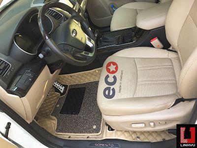 Thảm lót sàn Eco Premium 2 lớp màu kem Kia Sorento