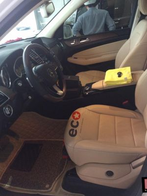 Thảm lót sàn Eco Premium màu kem 2 lớp Mercedes GLS