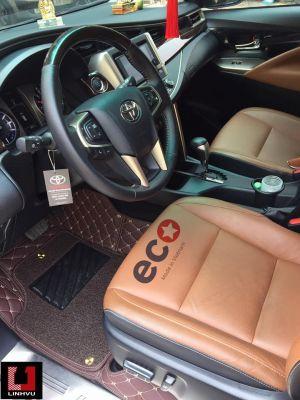Thảm lót sàn Eco HD 2 lớp màu nâu TOYOTA INOVA