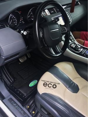 Thảm lót sàn Eco Carbon 2 lớp màu đen Ranger Rover Evoque
