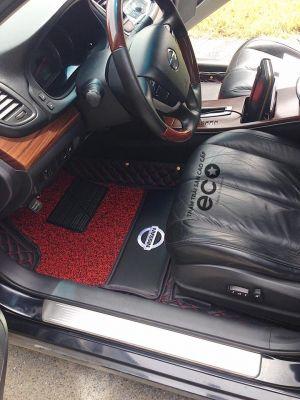 Thảm lót sàn Eco Premium 2 lớp màu đen Nissan Teana