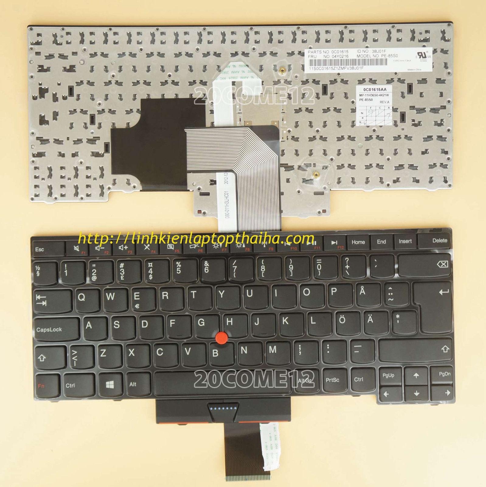 Bàn phím laptop Lenovo ThinkPad L440