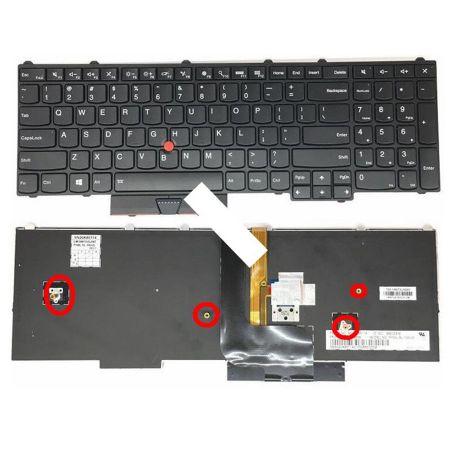 Bàn phím laptop Lenovo Thinkpad P50 P51 P70 có đèn