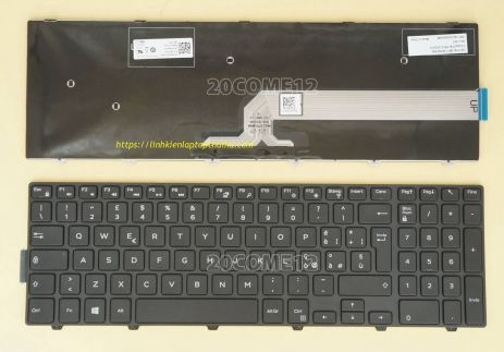 Bàn phím Laptop Dell inspiron 7559, 15 7559