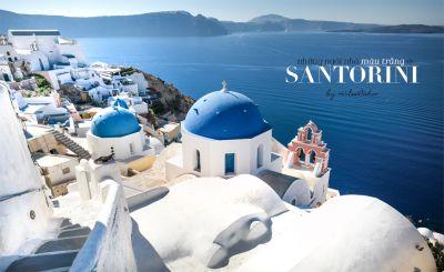 Những ngôi nhà màu trắng ở Santorini